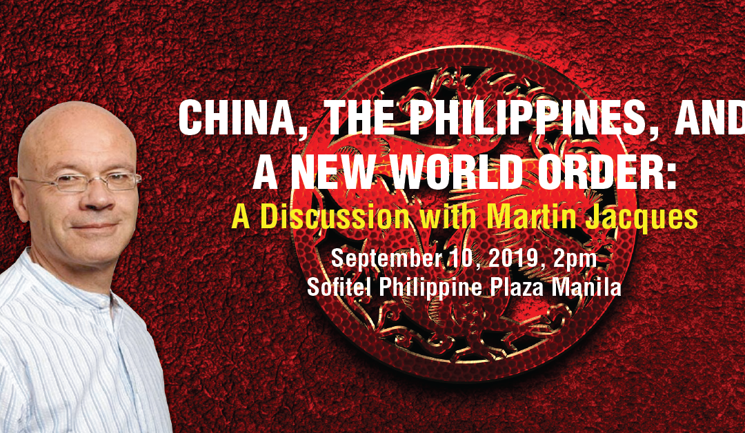 Man Who Foretold China's Rise Returns to Manila on September 10